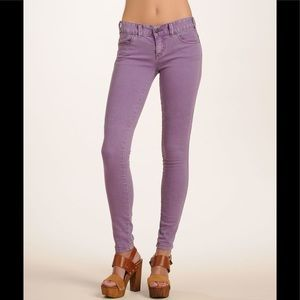Free People Lilac Millennium Skinny Jeans Size 27